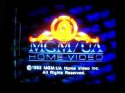 MGM UA Home Video 1992 Copyright Rainbow Scroll