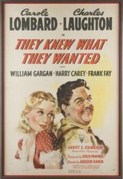1940 - They Knew What They Wanted Movie Poster