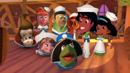 Kermit and friends in the ark