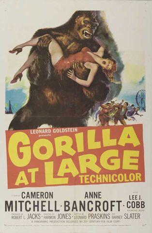 File:1954 - Gorilla at Large Movie Poster.jpg