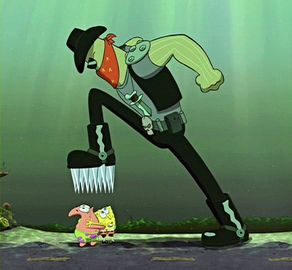 File:Dennis about to kill Spongebob and Patrick.jpg