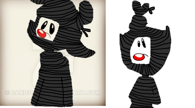 File:Wakko And Dot Wrapped In Video Tapes from the VHS.png