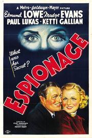 1937 - Espionage Movie Poster
