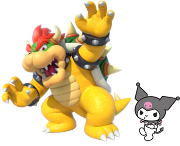 File:Bowser and Kuromi.PNG