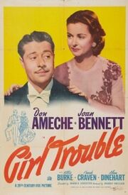 1942 - Girl Trouble Movie Poster