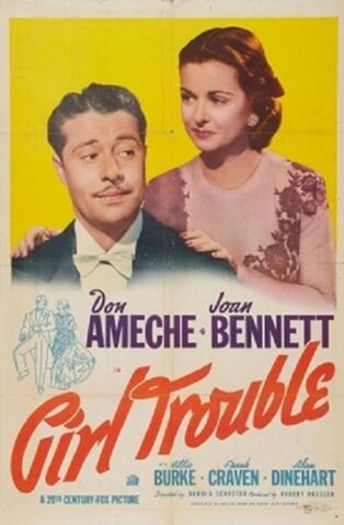 File:1942 - Girl Trouble Movie Poster.jpg