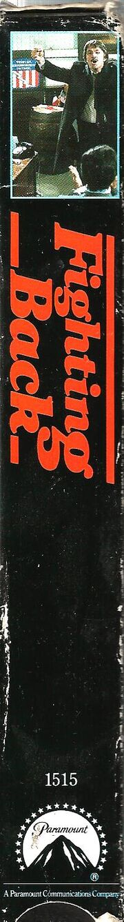 Fighting Back 1991 VHS (Spine Cover)