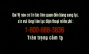 Report Video Tape Piracy Hotline Screen in Vietnamese (1997-2007)