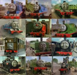Thomas, Edward, Henry, Gordon, James, Percy, Toby, Duck, Donald, Douglas, Oliver And Emily