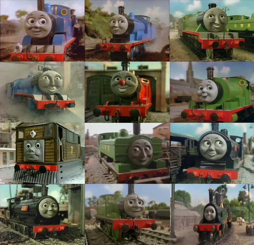 Thomas, Edward, Henry, Gordon, James, Percy, Toby, Duck, Donald, Douglas, Oliver And Emily