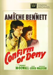 1941 - Confirm or Deny DVD Cover (2013 Fox Cinema Archives)