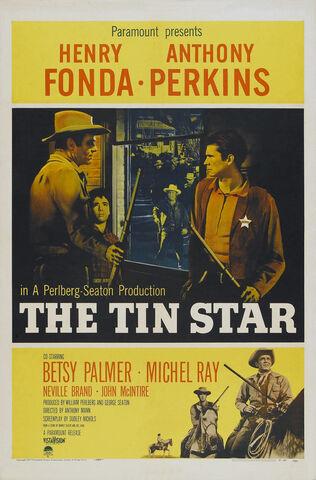 File:1957 - The Tin Star Movie Poster.jpg