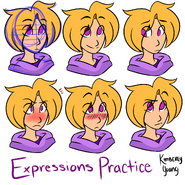 Expressions practice by kimbeepancake-d9s5jyp