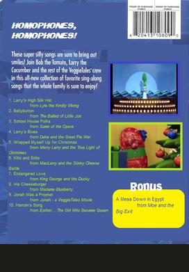 VeggieTales Sing-Alongs Schoolhouse Polka back cover