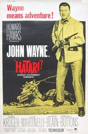 1962 - Hatari! Movie Poster 2