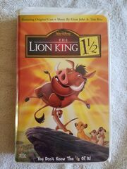 The Lion King 1 12 VHS