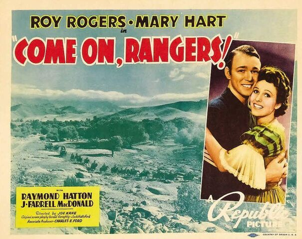 File:1938 - Come On Rangers Movie Poster.jpg
