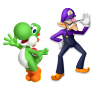 Yoshi and Waluigi