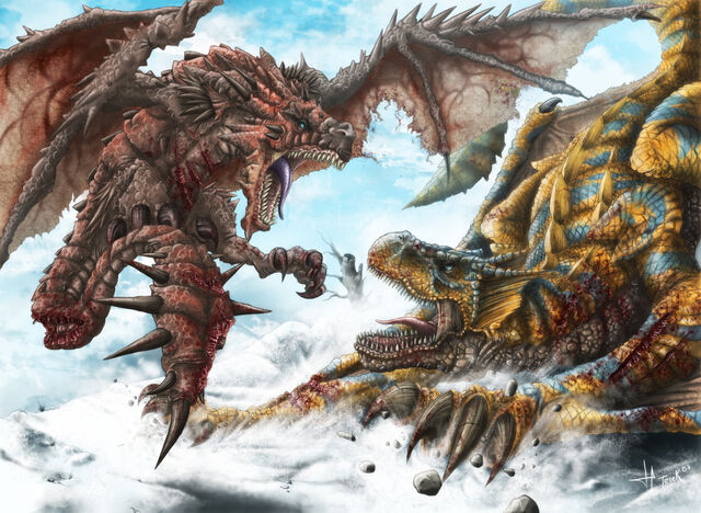 File:Rathalos vs tigrex by terekjet.jpg