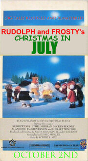 Rudolph and frosty's christmas in july re-release 1998 poster