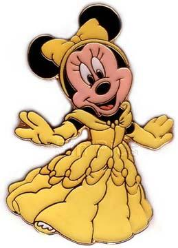 DS - Princess Minnie Boxed Pin Set (Belle)