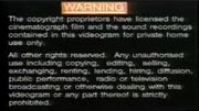 1991 - TVB International Limited Warning Screen in English