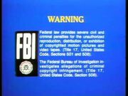 Blue FBI Warning