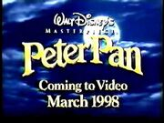 Peter Pan VHS 1998 Trailer