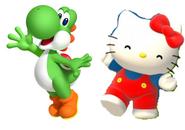 Yoshi and Hello kitty