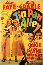 1940 - Tin Pan Alley Movie Poster