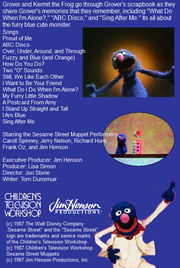 The Best of Grover Back Cover