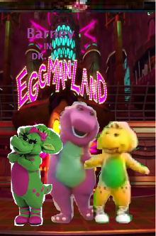 Barney in Dr. Eggmanland (SuperMalechi's version, 1998 VHS Cover)