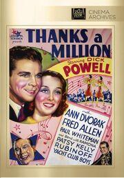 1935 - Thanks a Million DVD Cover (2013 Fox Cinema Archives)
