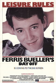 Ferris Bueller Day Off 1996 Re-Release Poster