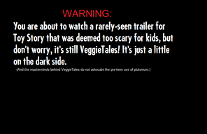 Original Toy Story trailer advision