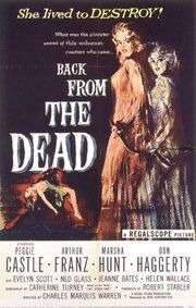 1957 - Back from the Dead Movie Poster