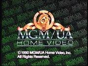 MGM UA Home Video 1990 Copyright Screen
