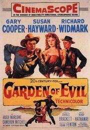 1954 - Garden of Evil Movie Poster