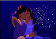 Aladdin and Jasmine Kissing