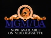 MGM UA Home Video Now Available on Videocassette Logo