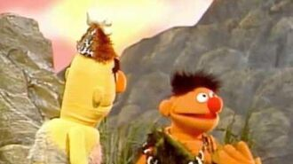 """Bambi and Grover in """"Caveman Days"""""""