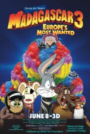 Madagascar 3 Europe's Most Wanted (Disney and Sega Animal Style) Poster
