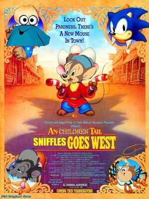 An Children Tail 2 Sniffles Goes West Poster