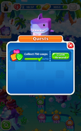 Quests Collect 750 soaps Claim Reward