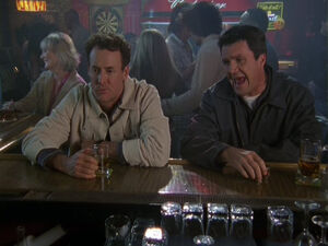 3x20 Janitor and Cox at the bar