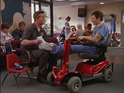 4x24 Doug on scooter and Janitor