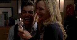 9x8 Lucy and Cole laugh