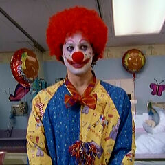 J.D. as a clown...