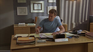 8x8 Cox in his office