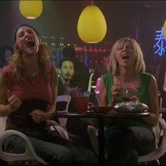 Elliot and Molly at a karaoke